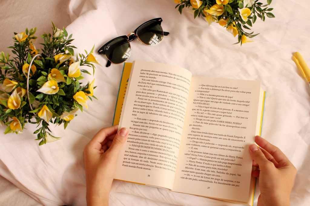 Self improvement, reading a book